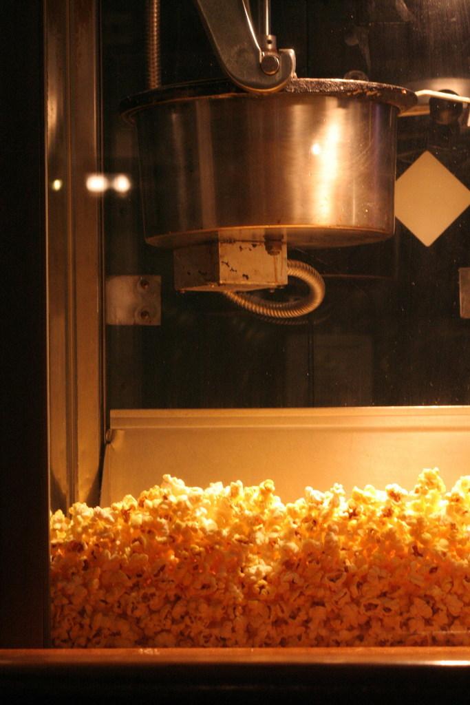 popcorn maschine mit heizkessel und ruehrwerk